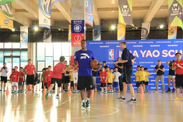 Rajon Rondo is in Beijing -- teaming up with the NBA Yao School at the Wukesong Basketall Stadium.