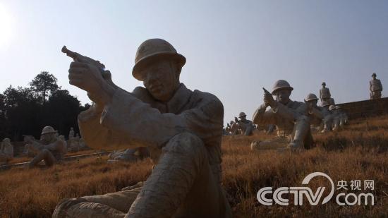 中国远征军雕塑群