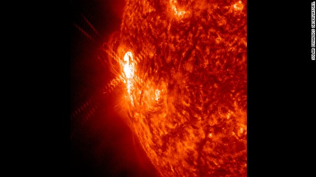 A large active region is giving off warning signs that this could be the source of powerful solar storms. It has already shot off two smaller flares (Jan. 2, 2014) as shown here in a wavelength of extreme ultraviolet light.