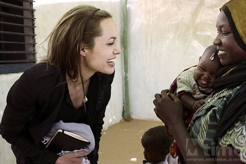 Image result for angelina jolie with african girls