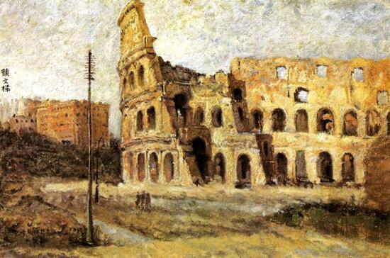 欧式罗马挂画贴图