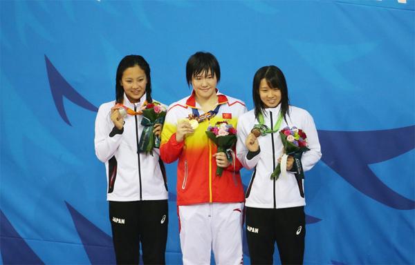 La championne olympique impose un nouveau record