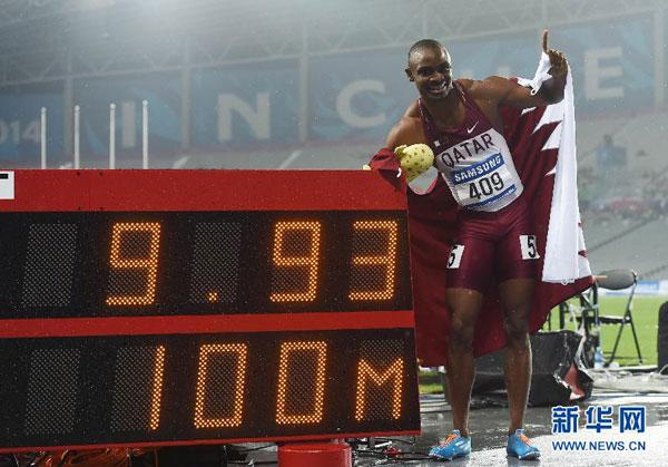 Femi Ogunode marca un nuevo récord continental en los 100 metros lisos masculinos con 9,93 segundos