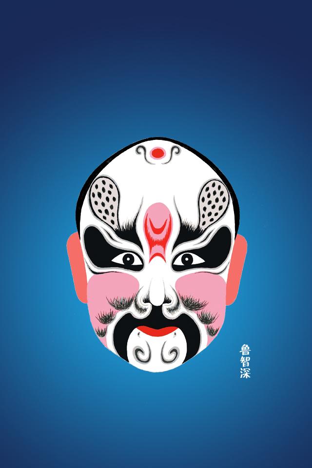 京剧卡通化妆头像