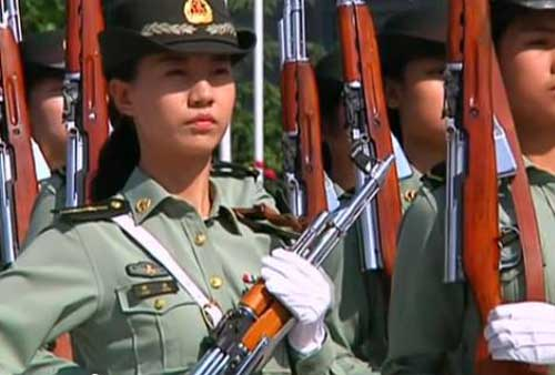 The 65-person squad represents each branch, the army, air force and navy. They are the PLA's first female honor guards in over six decades.