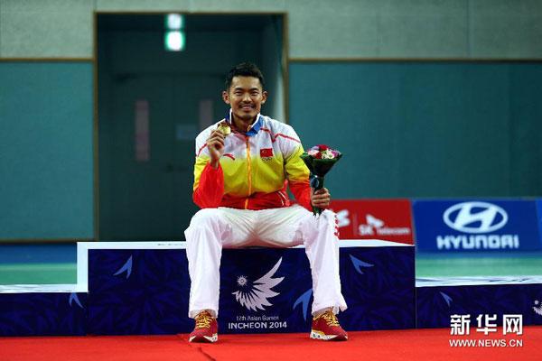 Chino Lin Dan se corona en badmintón individual masculino