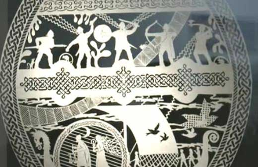 Paper cutting artists from China and northern Europe come together under the roof of Beijing