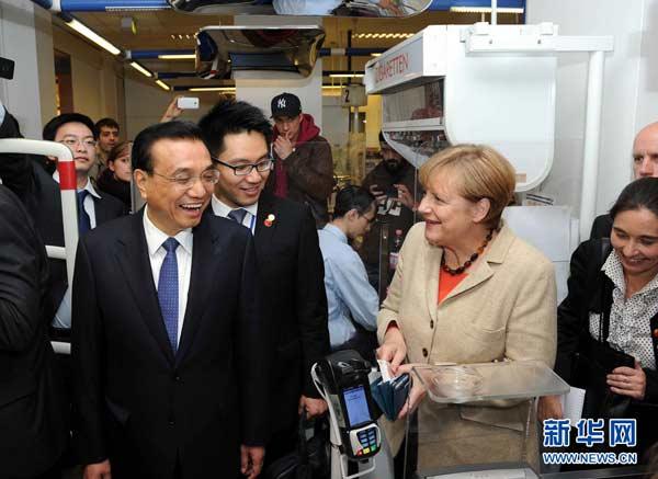 Resultado de imagen para merkel y Li Keqiang