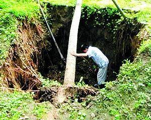地下水超采造成严重的地质灾害