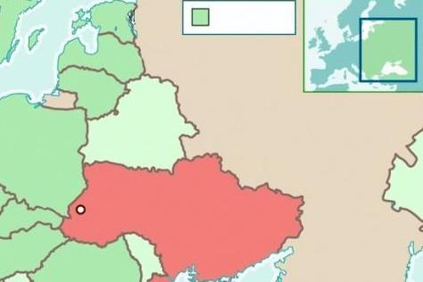 利沃夫地理位置示意图