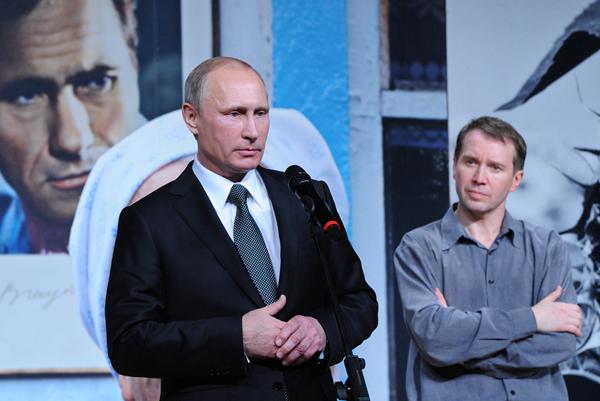Путин в День народного единства побывал в Театре Наций на вечере памяти Василия Шукшина.