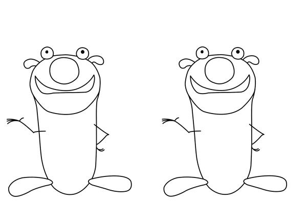 """智慧树""""道哥与摩尔""""互动小游戏——超级简笔画"""