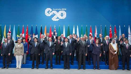 Leaders of the G20 have pledged to stimulate job growth, bolster global financial institutions and address climate change in the communique released at the end of a two-day summit in Brisbane.