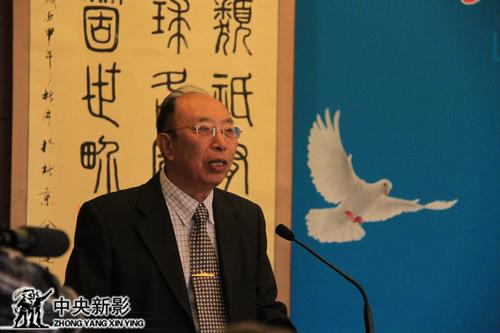 世界华侨华人社团联合总会常务副会长孟昭澄发言
