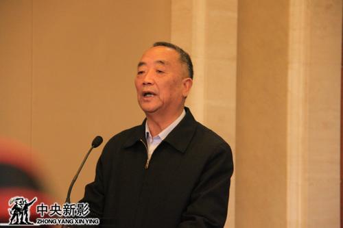光明日报社原社长、党委书记苟天林宣布画展开幕