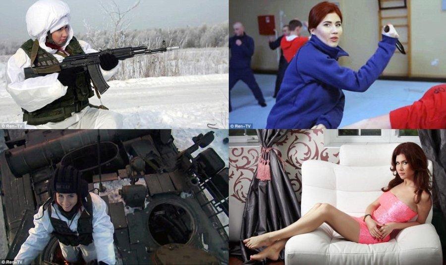 俄 美女间谍 驾驶坦克宣传征兵组图 粤语台