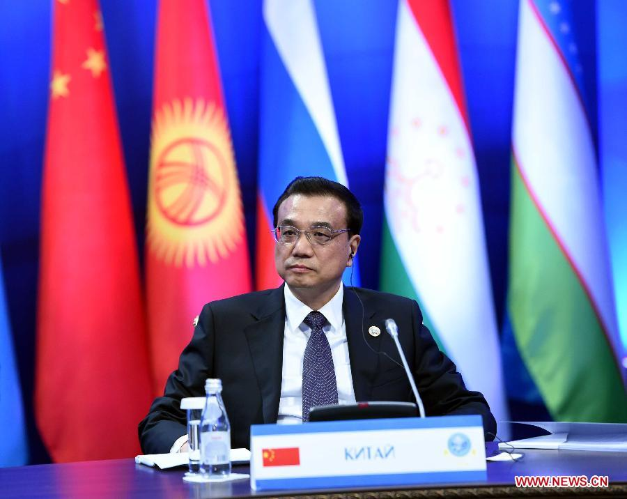 Chinese Premier Li Keqiang attends the 13th prime ministers
