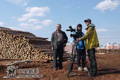 东北摄制组拍摄林海林场