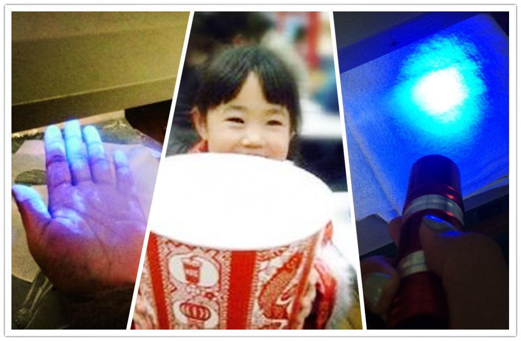 近日,有网友表示,日常使用的卫生纸、衣物等都可能含有荧光剂,通过紫光手电筒的照射,能检测出荧光剂的含量是否超标。
