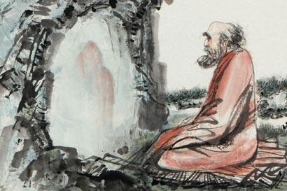 渡海来华,一苇渡江,静坐九年,成就神话。(图片来源:资料图片)