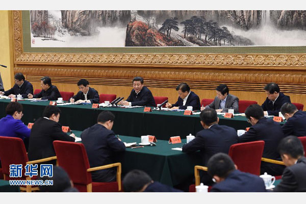 1月12日,中共中央总书记、国家主席、中央军委主席习近平在北京主持召开座谈会,同中央党校第一期县委书记研修班学员进行座谈并发表重要讲话。新华社记者 饶爱民 摄