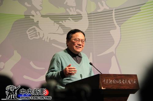 中国台港电影研究会会长、中国微电影产业联盟常务副主席张思涛讲话