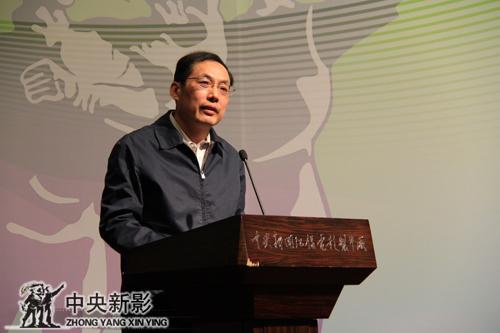 人民文学出版集团副总编辑、中国微电影产业联盟常务副主席曹剑发言