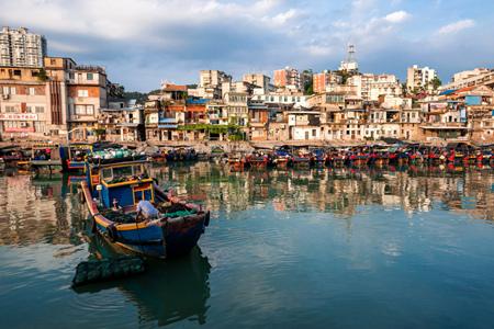 渔船,房屋,滩涂,蓝天,喜爱摄影的你一定不要错过!