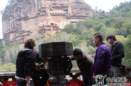 360度环幕电影《千年佛足》麦积山拍摄现场