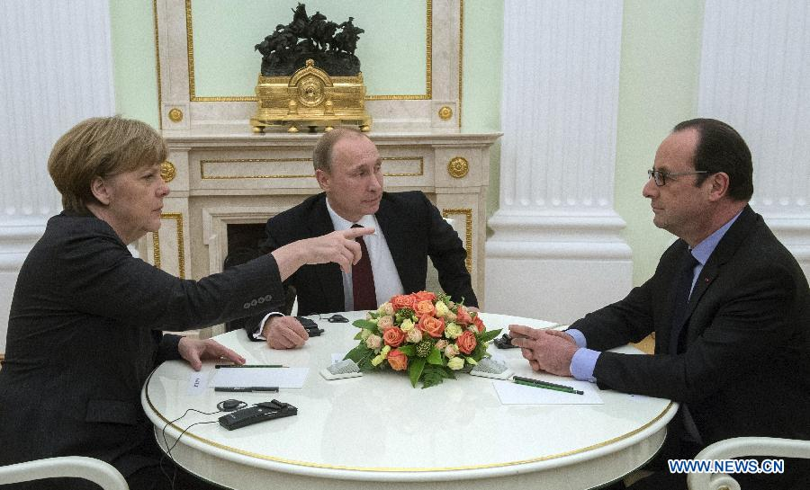 В Кремле завершились переговоры В. Путина, Ф. Олланда и А. Меркель по урегулированию украинского кризиса