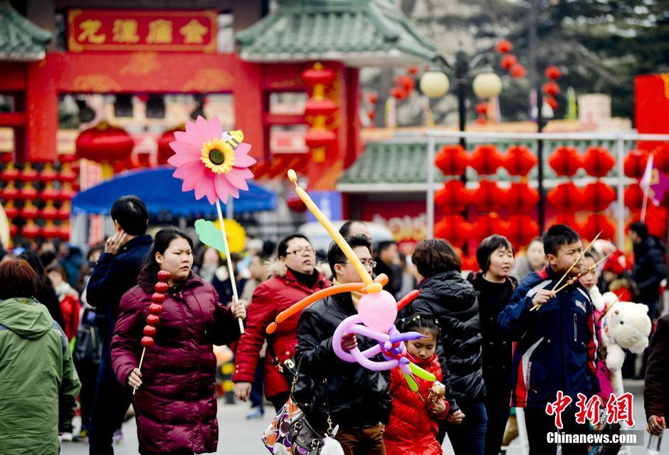 Наступление Нового года по лунному календарю в Китае отмечают храмовыми ярмарками