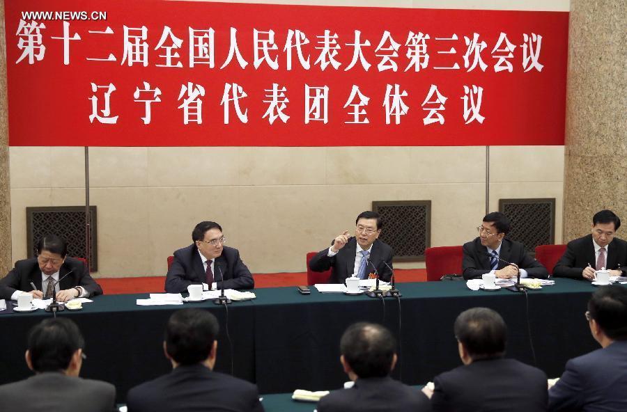 تشانغ ده جيانغ والمشرعين مقاطعة لياونينغ