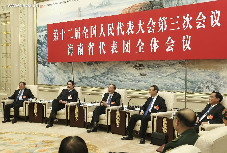 وانغ تشي شان والمشرعين من مقاطعة هاينان