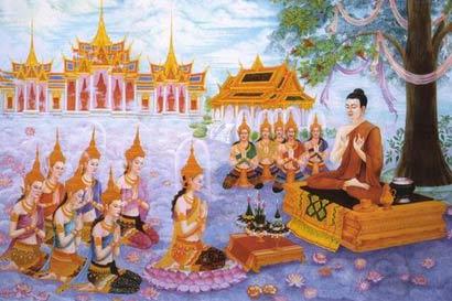 佛陀上忉利天说法(图片来源:资料图片)