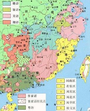福建方言地图