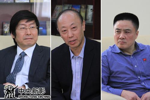 (左起)吴迪、杜文杰、李青生陪同访问