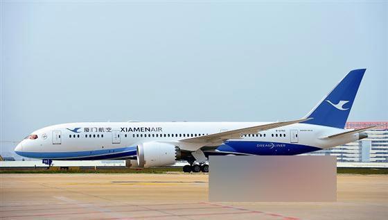 厦航引入首架配备wifi波音787飞机