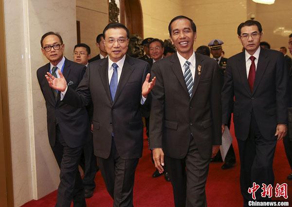 Beijing:rencontre du Premier ministre chinois avec le président indonésien