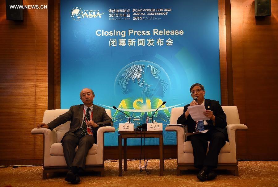 اختتام مؤتمر منتدى بواو من أجل آسيا السنوي 2015