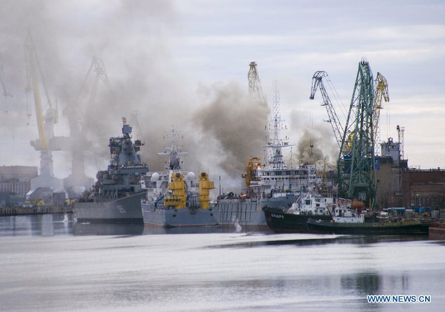 В Северодвинске загорелась стоящая в ремонте АПЛ