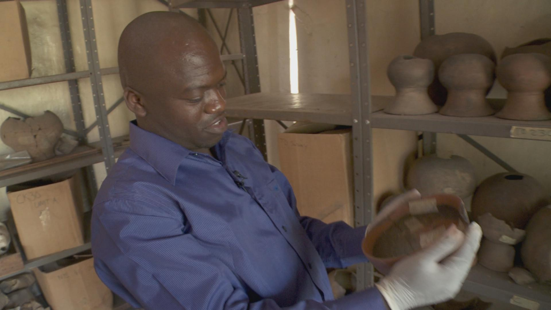 Moses Mkumpha. He is the only cultural conservator in Malawi.