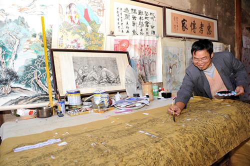 陈珠庭绘18米巨画