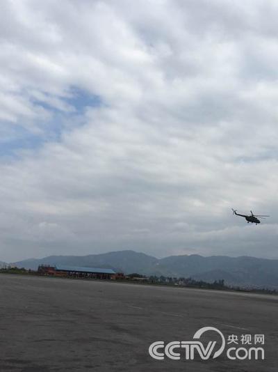 当地直升飞机出发救援