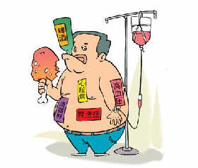 晚餐吃的多、又不运动,各种疾病就会找上门来。