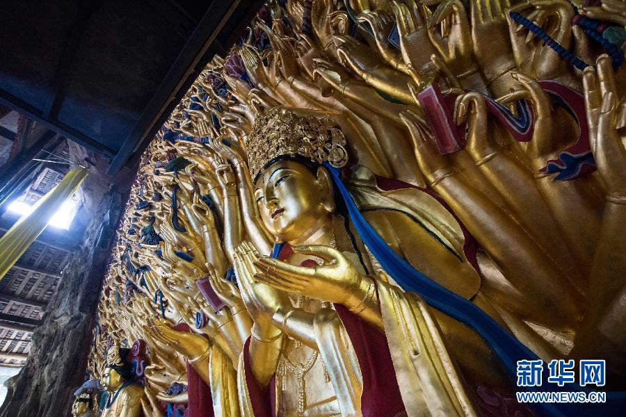 Restoration on 800-year Buddhist statue complete