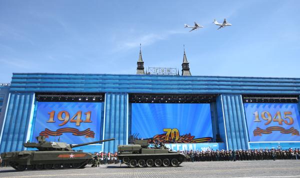 Генеральная репетиция военного парада Победы на Красной площади Алексей Дитякин/ТАСС