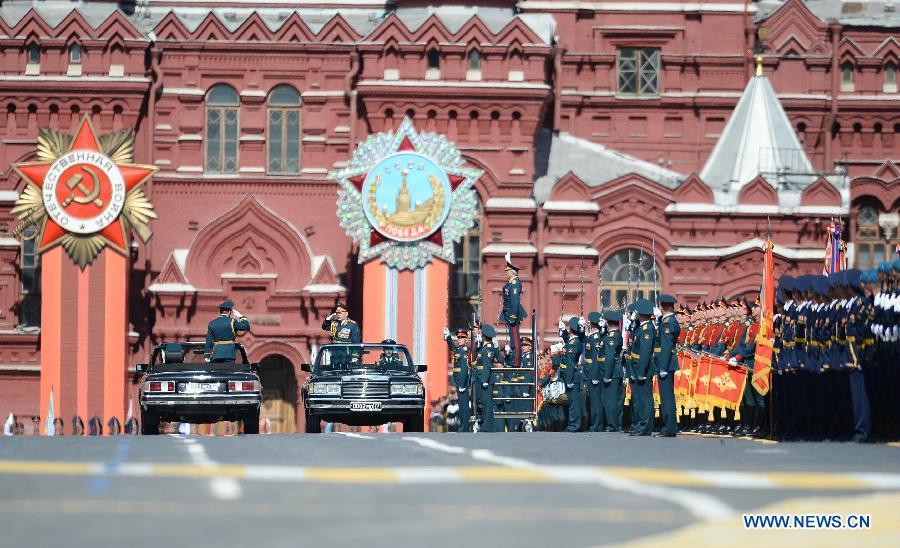 В России отмечают 70-ю годовщину победы в Великой Отечественной войне