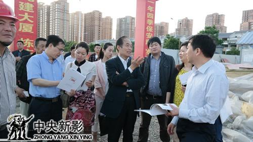 阎崇年考察中央新影隋唐运河古镇影视文化基地