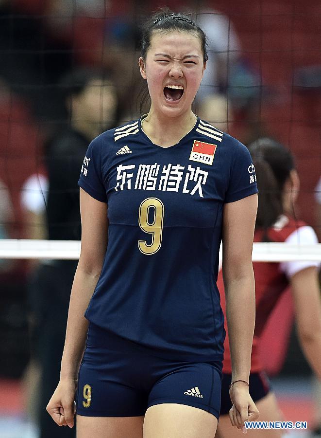 Китайская женская команда по волейболу, победив в 4 играх, вошла в восьмерку сильнейших