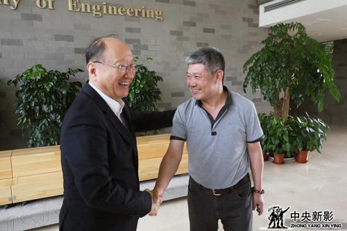 徐匡迪主席与《大国钢铁》总导演王瑛